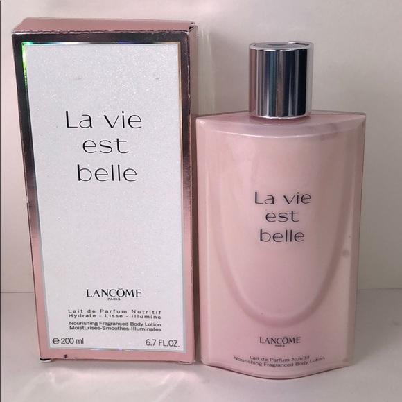 55c1f34b7 Lancome Makeup   La Vie Est Belle Body Lotion 67 Full Size   Poshmark